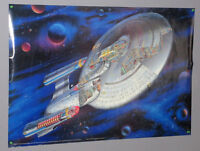 1993 Star Trek The Next Generation TNG 36 x 24 inch USS Enterprise poster:1990's