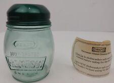 KRAFT PARMESAN CHEESE Vintage Glass Dispenser Shaker Green Restaurant Advertise