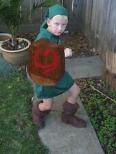 """Young Link"" Costume DEKU shield Ocarina of Time Zelda Cosplay custom made in US"