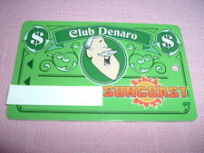 Suncoast Casino Players Club Denaro Slot Card Las Vegas, Nevada Obsolete Rare