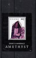 Ghana 2013 MNH Gems & Minerals 1v S/S Amethyst Rocks