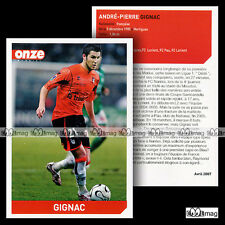 GIGNAC ANDRE-PIERRE (FC LORIENT) - Fiche Football 2007