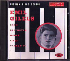 Emil Gilels Russian Piano School 7 Leningrad live 1968 CD Bach Beethoven Weber