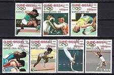 JO été Guinée Bissau (51) série complète de 7 timbres oblitérés