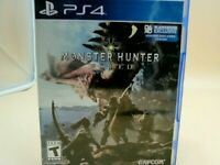 Monster Hunter World PS4 Video Game Tested fully functional