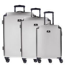 CheckIn Manchester 4 Double Wheels Suitecase Set Travel Set 3pcs. (silver