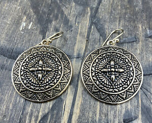 Barse Maya Disc Earrings- Bronze- New With Tags