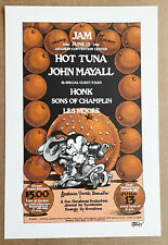 Orange County Jam: : concert poster by Rick Griffin. June 13 1975