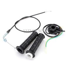 Throttle Cable 7/8'' Handlebar Grip Kill Stop Switch 49cc-80cc Motorized Bicycle