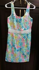 Women's Lilly Pulitzer Floral Sheath Dress with Beading - Size 8
