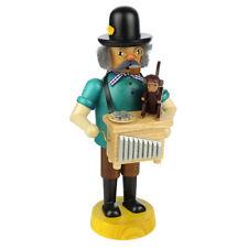 Standing Wooden Monkey On Organ Grinder Incense Burner Smoke Made In Germany