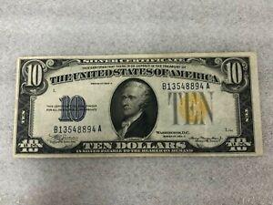 1934 A $10 Silver Certificate North Africa