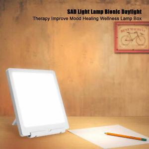 10000Lux LED SAD Light Therapy Happy Nature Energy Lamp Box Improve Mood