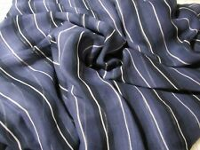 Blue Stripe Silk Chiffon 6 yards 45 wide