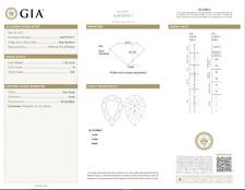 1.26 Carat Loose H / VS2 Pear Shaped Cut Diamond GIA Certified