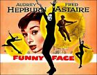 Funny Face 1957 Movie Audrey Hepburn Fred Astaire Vintage Poster Print Retro Art