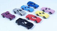 Tootsietoy Diecast Metal Cars Lot of 8 Ferrari Porche Camaro Corvette El Camino