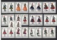 Spain Mint Never Hinged Costume Stamps Ref 24250