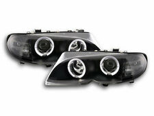 BMW 3 E46 Estate/ Sedan/ Touring 2002-2005 Black Ring Angel Eyes Headlights RHD