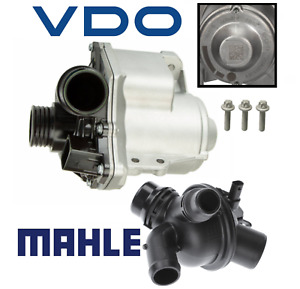 OEM Electric Water Pump w/ Bolts Thermostat Assembly Kit VDO Mahle BMW 3.0L