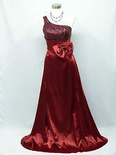 Cherlone Red One Shoulder Ballgown Wedding/Evening Bridesmaid Formal Dress 12