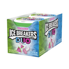 ICE BREAKERS Duo Sugar Free Mints, Watermelon, 1.3 Ounce ( Pack of 8 )