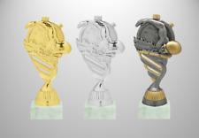 Schwimmen Pokal Figur Höhe 15cm drei Farben inklusive Schild auf Marmor | DLRG