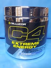 Cellucor Extreme Energy Pre-Workout C4 Icy Blue Razz 30 Servg 4/20 New Shipment
