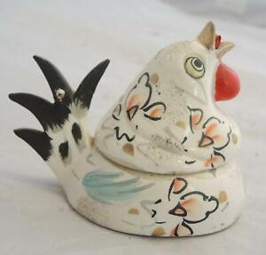 Adorable 1940s Chicken Sewing Caddy - Measuring Tape Pin Holder