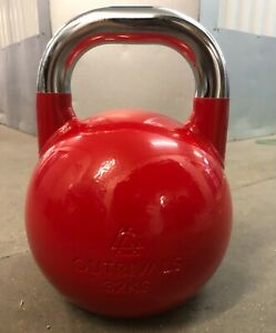 Kettlebell Competition Steel 32kg Gym Home Fitness Training Heavy Weights