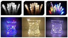 10er 20er 30er 40er 100er LED Lichterkette Micro Drahtlichterkette Streifen Deko