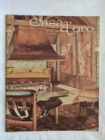 RIVISTA CASA D'ORO N. 1 1966 1967 COME NUOVO ARREDAMENTO VINTAGE FABBRI EDITORE