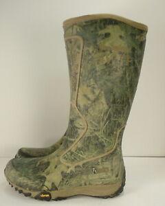 "Rocky RKYS153 - 16"" Silent Hunter Rubber Tall Grass Camo Snake Boot size 8"