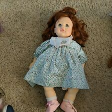 "Doll by Pauline Design Vinyl/Cloth 17"" Doll Auburn hair with blue eyes"