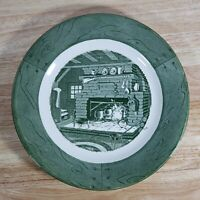 "Vintage Colonial Homestead By Royal Green 10"" Dinner Plate Collectible Decor"