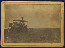 vintage photo early steam engine farm tractor country agriculture tracteur 1895
