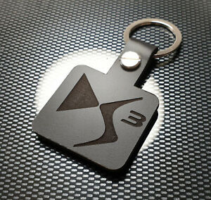 DS3 Leather Keyring Keychain 1.6 VTi e-HDi Airdream DStyle Sport