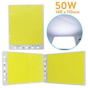 LED COB Flip Chip 50W 110x140mm Square Panel Lamp Bulb DC 12V For Car Light DIY