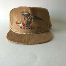 38b07be91a522 Ford New Holland Wildlife Series Tan Corduroy K Brand Strapback Hat Cap Vtg
