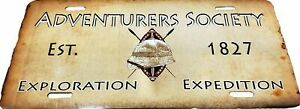 Adventurers Society Custom LICENSE PLATE