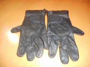 """Harley-Davidson Men's """"TORQUE"""" Black Leather Full Finger Gloves M Mint RARE/HTF"""