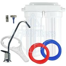 """2 Stage 10"""" Drinking Water Filter for Fluoride, Arsenic, & Heavy Metal Removal"""
