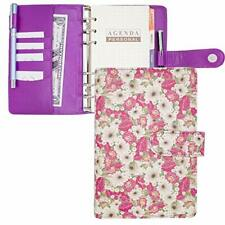 A6 Binder Planner Covermini Binder Leather Notebook Portfolio Small Binder 5