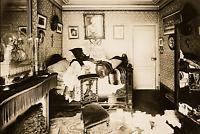 Antique CRIME SCENE Under Covers PHOTO 1905 Vintage Paris Sepia Reprint 788