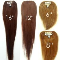 """100% Human Hair Straight Clip in Piece Filler Seamless Add-On Bangs Topper 6-16"""""""