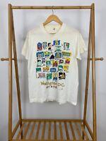 VTG Screen Stars 80s Washington DC From A to Z Souvenir Thin T-Shirt Size XL USA