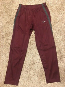 Men's Nike Epic Training Tennis Pants with Pockets Team Maroon/Anthracite/White