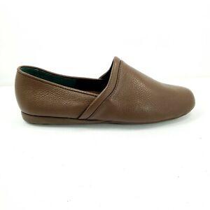 LB Evans Aristocrat Opera Slip On Slippers Mens Size 11.5 EEE Brown Leather