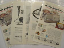 LOT OF 5 VINTAGE  office machine ADS ADVERTISING dictaphone a b dick wollensack