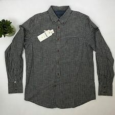 NWT Plectrum by Ben Sherman Mens XL Button Down Long Sleeve Shirt Prize Indigo
